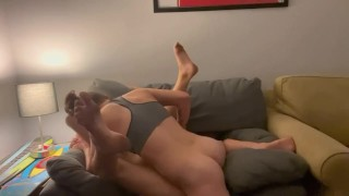 Real lesbian fuck: She kiss me, fingers me, eats my pussy and rides my face,full video on my OnlyFan