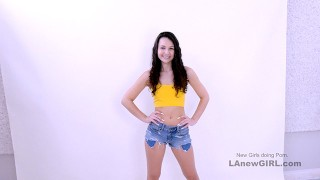 Cute with no model experience gets fucked at Audition POV
