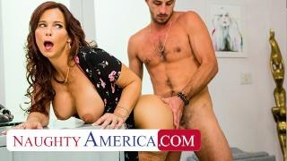 Naughty America - Syren De Mer gets young cock