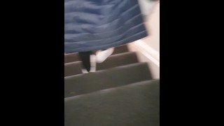 Step mom caught step son jerking off on step sister