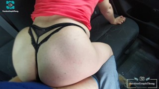 This is how we end the year 2020 with my girlfriend's mother! Hot moans and doggy style in the car!