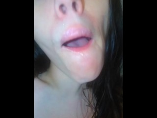 An Onlyfans Fan Requested Wet Sloppy Spitty Spit Saliva Play Pink Mouth Pics so I also Made a Video