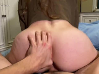 CUM INSIDE ME! -Real Homemade POV Creampie with Amateur Babe AmberWinters