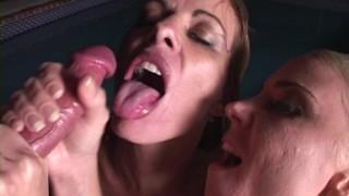 Double Deepthroat Titty Fucking & Cum Swap by Sandy Knight - Sara Ashley with Original MILF Hunter