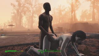 Ghoul got pregnant. Half-zombie gently fuck a woman from behind | Fallout 4 sex