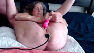 Horny Wife Gets A Butt Plug In Her Ass Vibrates To Wet Orgasm