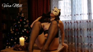 Sexy woman in black stockings talking Lithuanian (music: Richard Myhill - I want)