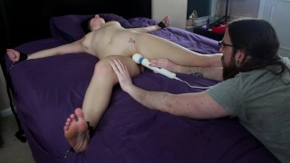 BDSM Training with Vibrator Torture and Shaking Orgasms