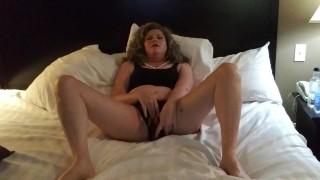 Catalina masturbates