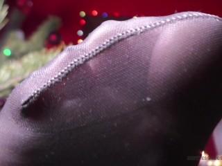 Black Nylon Soles by the Christmas Tree