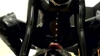 Rubber Femdom Girl And Her Latex Fetish Boy - Facesitting Spitting Rimming Face Slapping