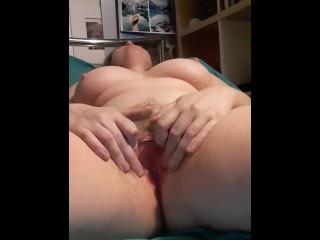 Girl masterbating naked on bed