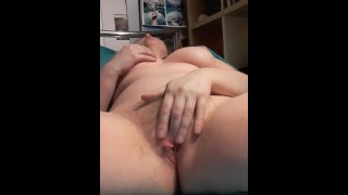 Girl masterbating naked on bed