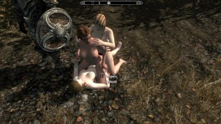 Fucked with a muscular man and then sucked it | Skyrim sex