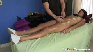 Stressed out Thai cutie gets a massage and a hard cock