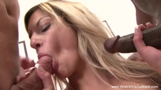 Interracial DP Exchange 3some With MILF