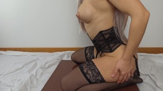 Screen Capture of Video Titled: My pussy needed some work after my covid absence