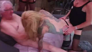 Sexy TGirl Charlotte has her first orgy