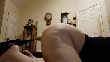 Wifey plays while hubby is away