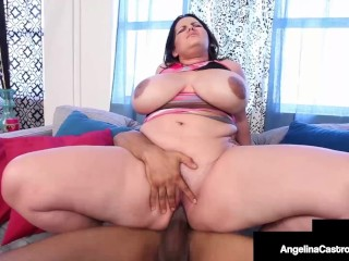 Crazy Cuban Cock Sucking By Insatiable BBW Angelina Castro! massage porn tube