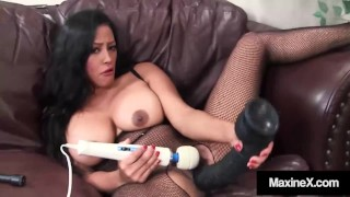 Asian Housewife Maxine X Blows Dick While Riding A Sybian!