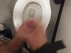 Public bathroom jerk