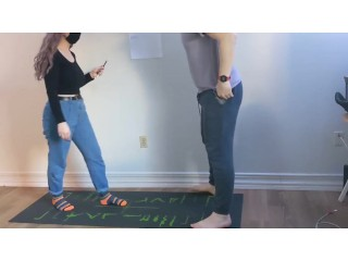 21 kick in the balls to kick off '21 | Ballbusting kick knee squeeze amateur couple