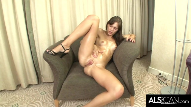Hot Brunette Dancing Stripping and Masturbating