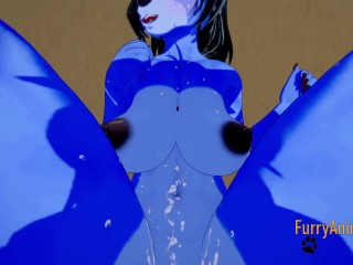 Furry Hentai – Blue Wolf & Fox Multiple Cums inside Her