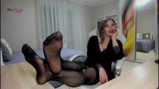 Nylon soles worship Goddess ignore