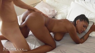 MOMxxx Big naturals ebony MILF Tina Fire intimate romantic sex with