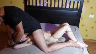 Using my tied little slave