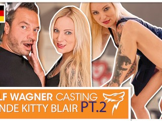 Long-legged tattoo bitch Kitty Blair gets dicked down! WOLF WAGNER CASTING