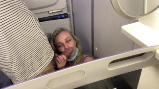 on the airplane,i follow my husband on the toilet to get fuck & he jizz in my mouth before take off! – teen porn