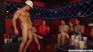 DANCING BEAR - Skyler Luv, Gia Paige, Kate England And More Among The Crowd Waiting For Big Cock