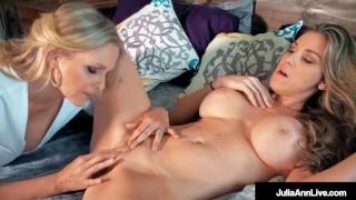 Finger Fucking Lesbian Milfs Julia Ann & Kayla Paige Orgasm!
