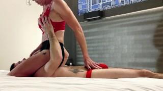 Strapon Suck - Pegging Amateur- Two Blowjobs One Cum- Passionate CUM CLEANUP / CUM KISS - ULTRA 4K