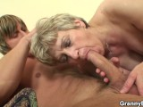 Stranger fucks 60 years old granny on the couch