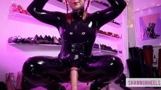 Be Latex Mistress Shannon's Sissy Bitch Butt Slut JOI