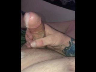 Nice jerk off with cum shot after a good ass licking tease