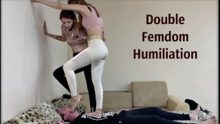 [PREVIEW] Cheeky Stepsisters Humiliate Their Subby Stepbro - Facesitting, Foot Gagging, Spitting