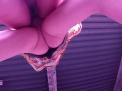 むちむち可愛い女子大生② 立体駐車場で露出生SEX