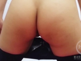 Doggystyle Masturbation with Perfect Ass Teen