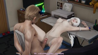 3D Porn - pouring out a lot in her sexy body