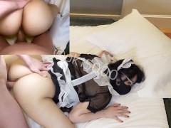 【ハメ撮り】変態美少女メイドのアナルセックス イキ狂いケツ穴肉便器調教
