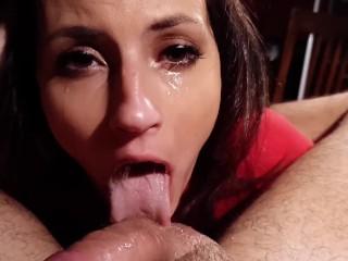Tiny Tina face fuck deepthroat blowjob POV