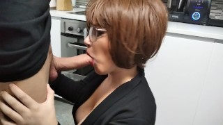 I savor his rich cock in the kitchen