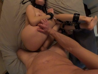 Big Ass Slave Getting DESTROYED with HUGE CREAMPIE