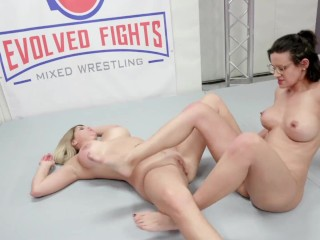 Lesbian Wrestling Dual Sex Fight  And Pussy Eating