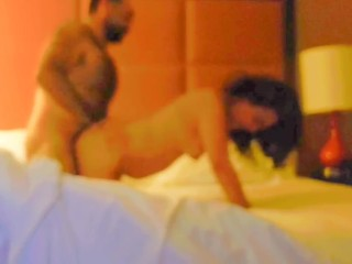 Horny latina wife getting fucked in hotel by stranger
